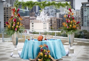 table for bride and groom