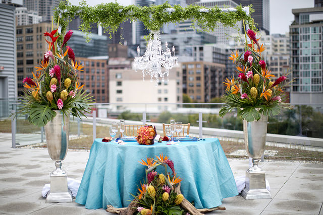 Tropical Destination Wedding in Chicago – Photoshoot