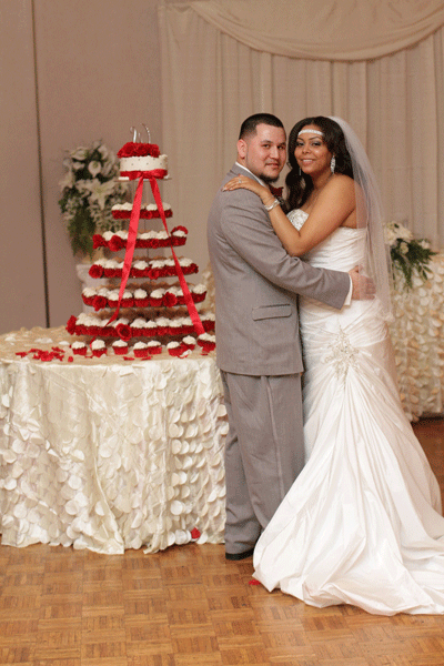 Dominique and Byron – Red, White and Gray Wedding